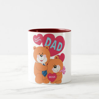 Beary Special Dad Two-Tone Coffee Mug