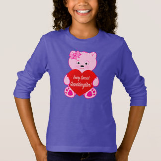 Beary Special Granddaughter Teddy Bear and Heart T-Shirt