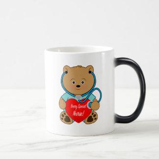 Beary Special Nurse Teddy Bear with Stethoscope Magic Mug