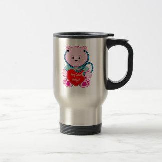 Beary Special Nurse Teddy Bear with Stethoscope Travel Mug