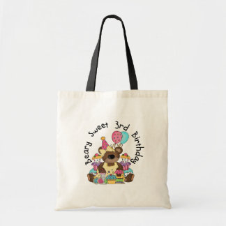 Beary Sweet 3rd Birthday Tshirts and Gifts Tote Bag
