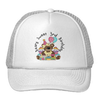 Beary Sweet 3rd Birthday Tshirts and Gifts Trucker Hat