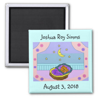 Beary Sweet Dreams Baby Announcement Magnets