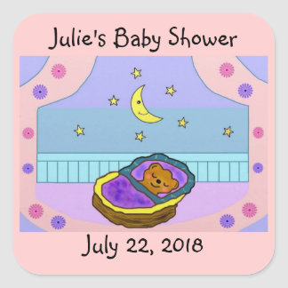 Beary Sweet Dreams Baby Announcement Stickers