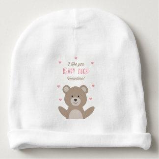 Beary Valentine Baby Beanie