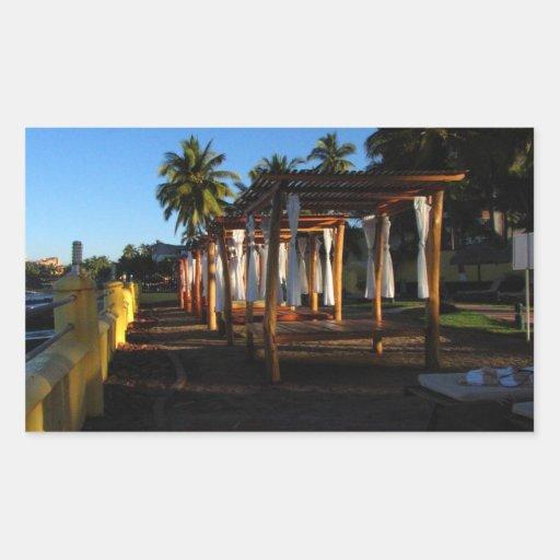 BEASHA Beach Shadows Rectangular Sticker