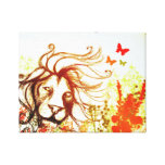 Beast and The Butterflies Gallery Wrapped Canvas