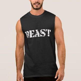 Beast Black Men's Ultra Cotton Sleeveless T-Shirt