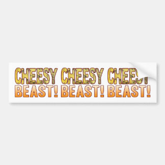 Beast Blue Cheesy Bumper Sticker