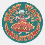 Beast Feast Master Classic Round Sticker