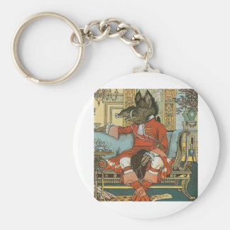 Beast from Beauty and The Beast Basic Round Button Keychain