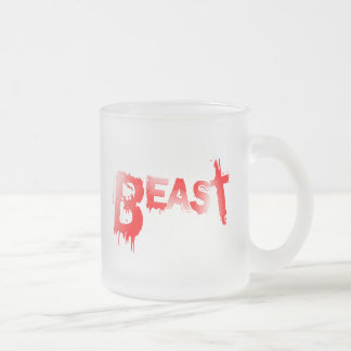 Beast Frosted Glass Coffee Mug