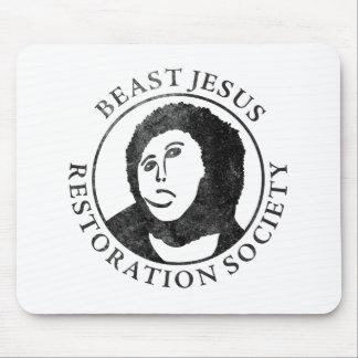 Beast Jesus Restoration Society Mouse Pad