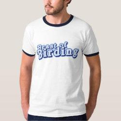 Men's Basic Ringer T-Shirt with Beast of Birding design
