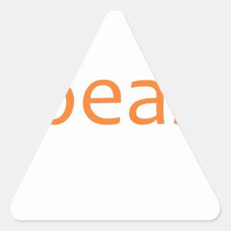beast- orange triangle sticker