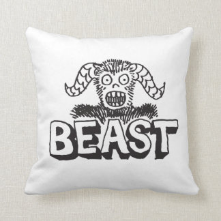 BEAST Pillow! Throw Pillow