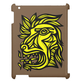 """Beast Roar Yellow Black"" iPad Case"