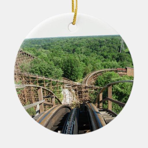 Beast Roller Coaster at Kings Island Ceramic Ornament