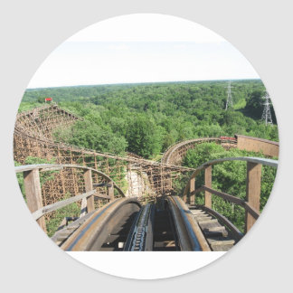 Beast Roller Coaster at Kings Island Classic Round Sticker