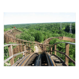 Beast Roller Coaster at Kings Island Postcard