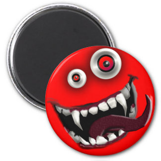 beast smiley 2 inch round magnet