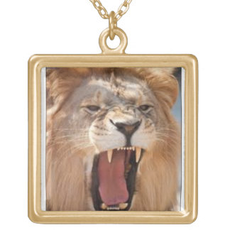 beast tag square pendant necklace