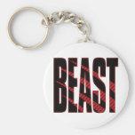 BEAST. Tough.Hardcore.Muscle.Wild.Animal Key Chain