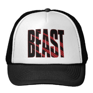 BEAST. Tough.Hardcore.Muscle.Wild.Animal Trucker Hat
