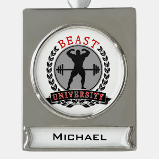 Beast Univ Bodybuilding Custom Banner Ornament