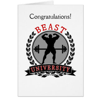 Beast University Bodybuilding Congratulations Card