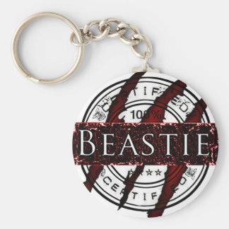 Beastie certificado llaveros
