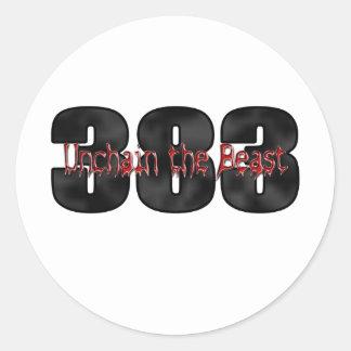 beastly 383 stroker motor sticker