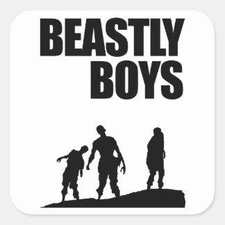 Beastly Boys Square Sticker