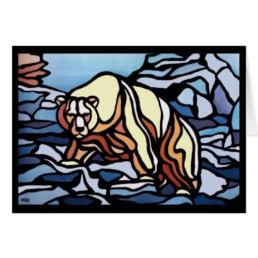 Beat Art Card Personalized Polar Bear Card