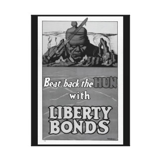Beat back the Hun with Liberty_War image Canvas Print