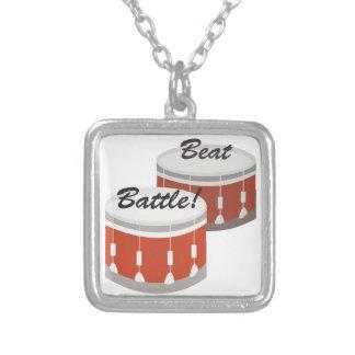 Beat Battle Square Pendant Necklace