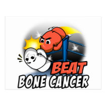 Beat Bone Cancer Postcard