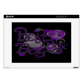 "Beat Box Boy Purple Computer Skins Decal For 15"" Laptop"