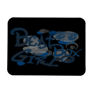 Beat Box Girl Blue Magnets