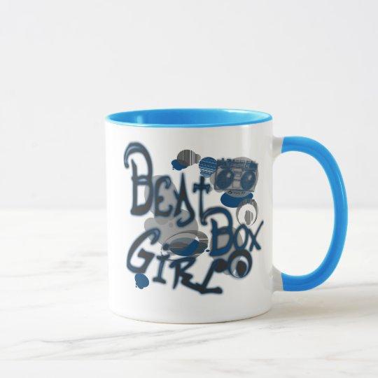 Beat Box Girl Blue Mugs