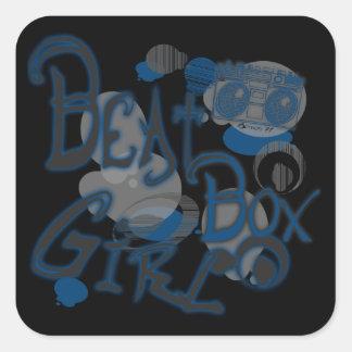 Beat Box Girl Blue Stickers