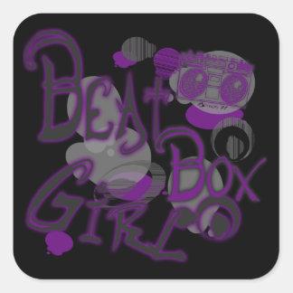 Beat Box Girl Purple Stickers