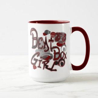 Beat Box Girl Red Mugs
