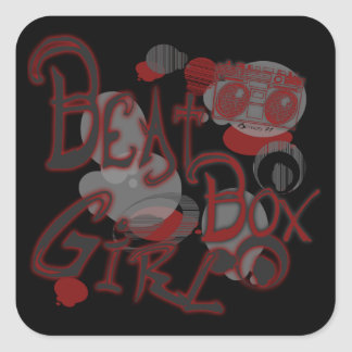 Beat Box Girl Red Stickers