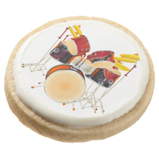 Beat Box Shortbread Cookies,Play and eat the Drums Round Shortbread Cookie