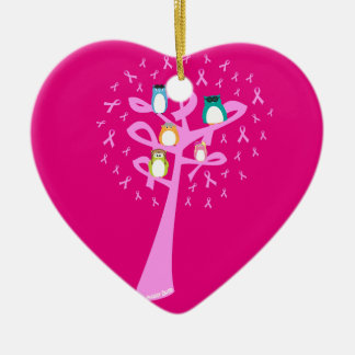 Beat Breast Cancer Ceramic Ornament