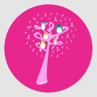 Beat Breast Cancer Classic Round Sticker