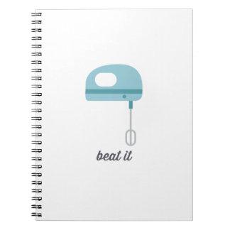 Beat It   Blue Kitchen Beater Spiral Notebook