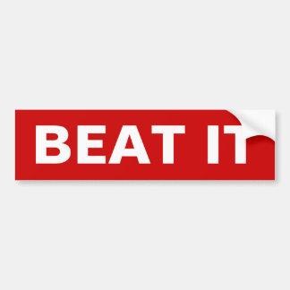 Beat It Bumper Sticker 1980's Car Bumper Sticker