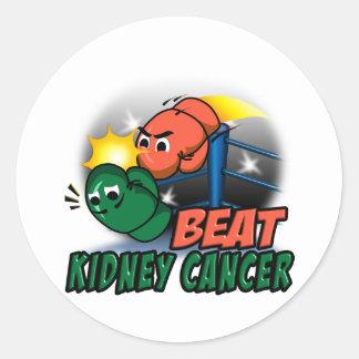 Beat Kidney Cancer Classic Round Sticker